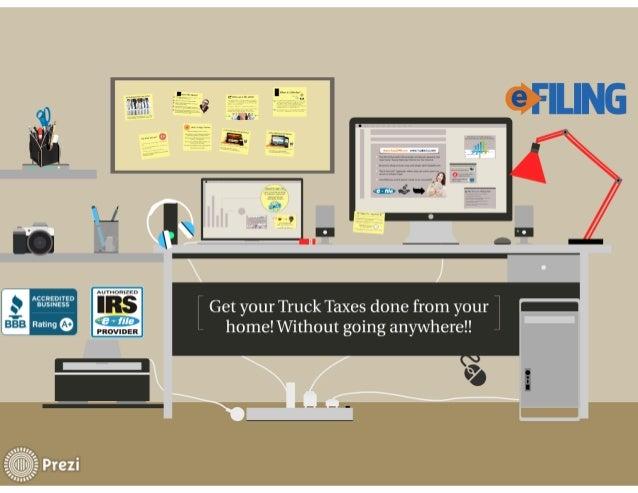 Truck Tax Form 2290 E-file  Slide 2