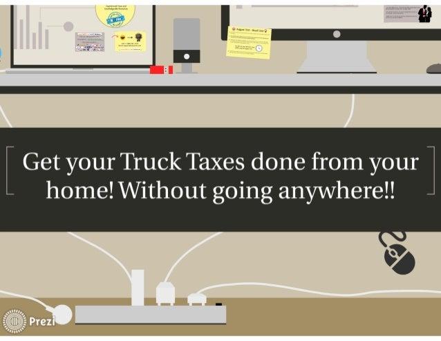 Truck Tax Form 2290 E-file  Slide 3
