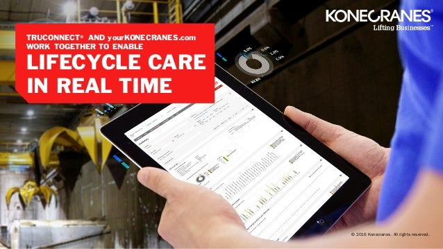 TRUCONNECT® and yourKONECRANES com work together to enable