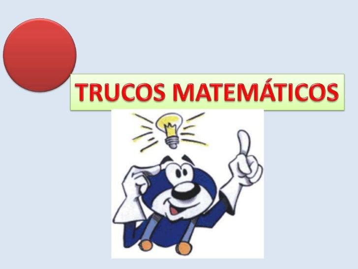 Trucos matematicos