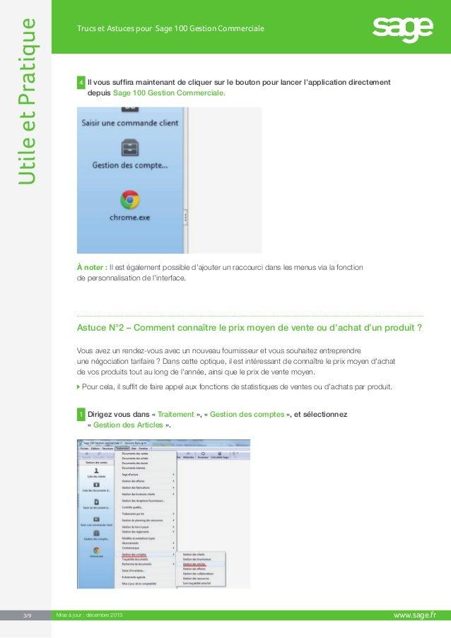 Trucs et Astuces pour Sage 100 Gestion Commerciale Slide 3