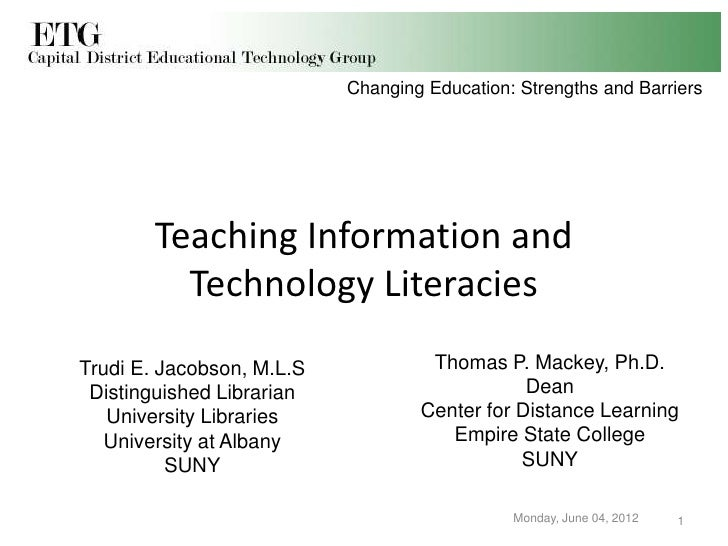 Changing Education: Strengths and Barriers     Promoting Radical Change in      Teaching Information and        Technology...