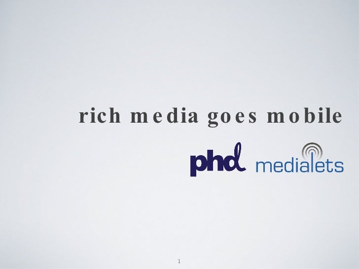rich media goes mobile