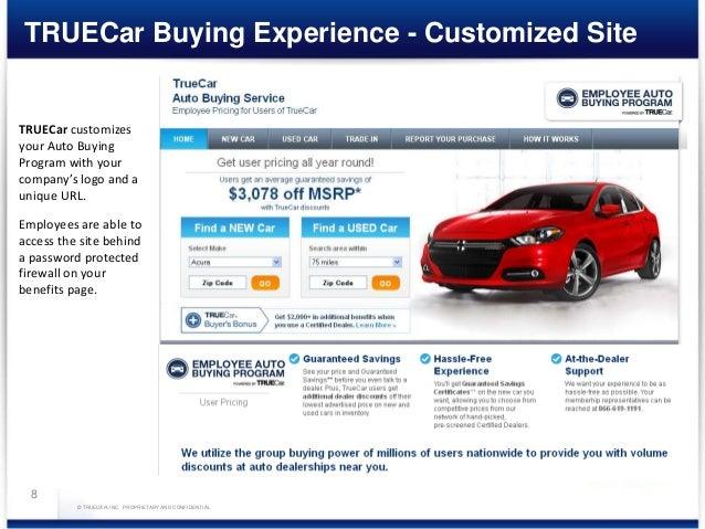 Used Car True Car >> True Car Presentation