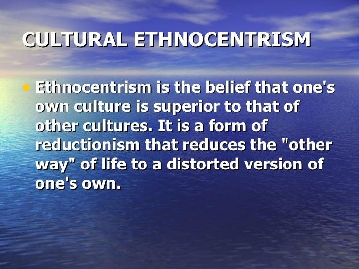 Do you favor ethnocentrism or cultural relativism