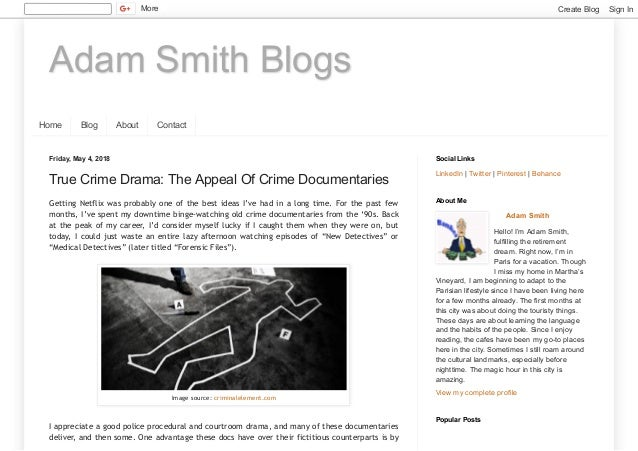 True Crime Drama: The Appeal Of Crime Documentaries