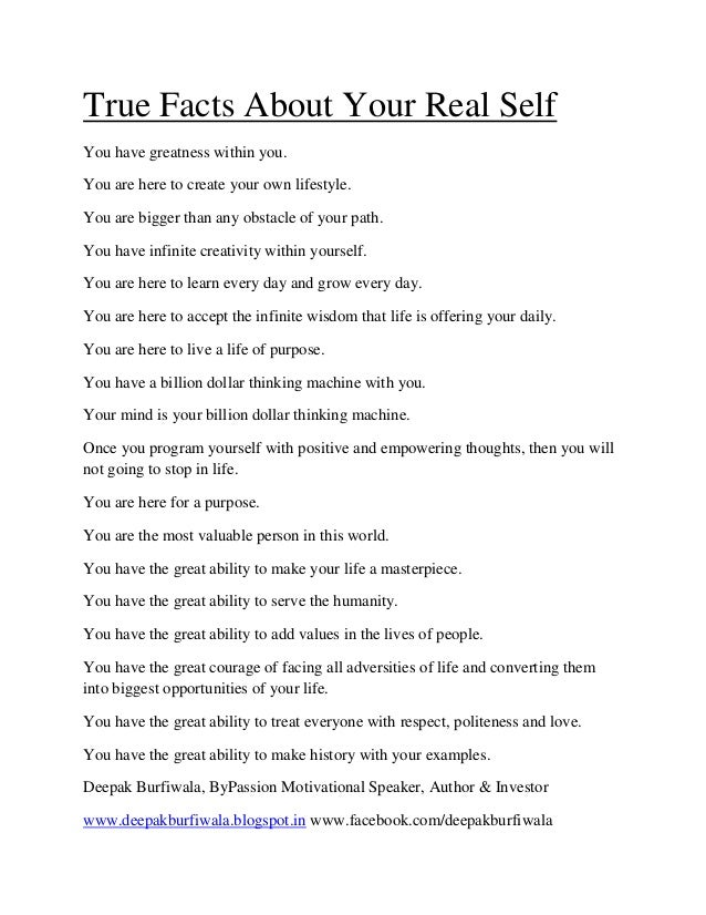 Deepak Burfiwala True Facts About Your Real Self