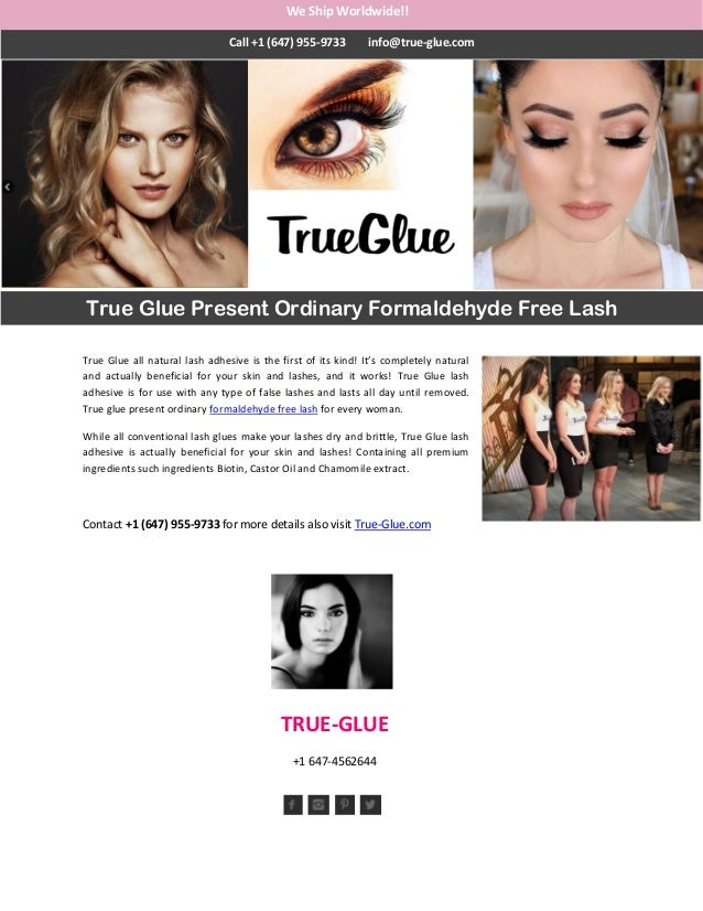 4b2dbf30dd6 True Glue all natural lash adhesive is the first of its kind! It's completely  natural