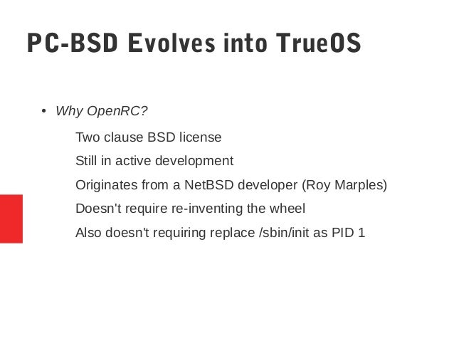 pc bsd evolves into trueos meetbsd california 2016