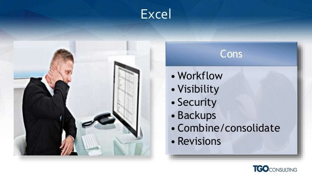 Pros • Familiarity • Ease of use • Simple Cons • Workflow • Visibility • Security • Backups • Combine/consolidate • Revisi...