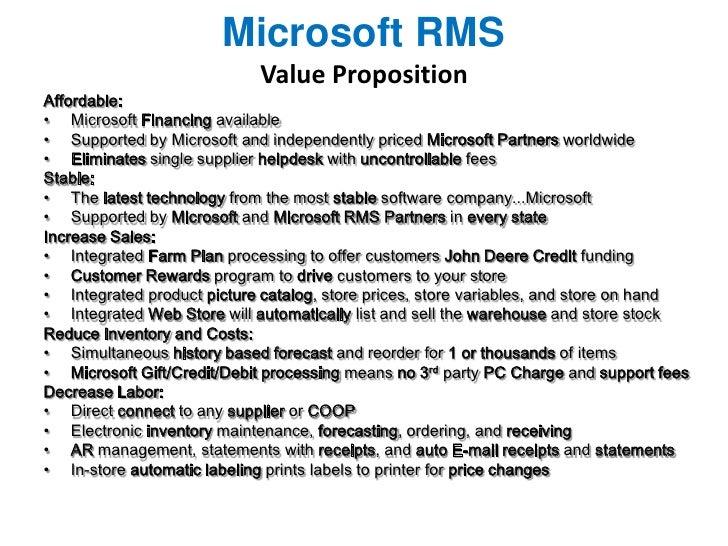 True Value Pos Microsoft Rms