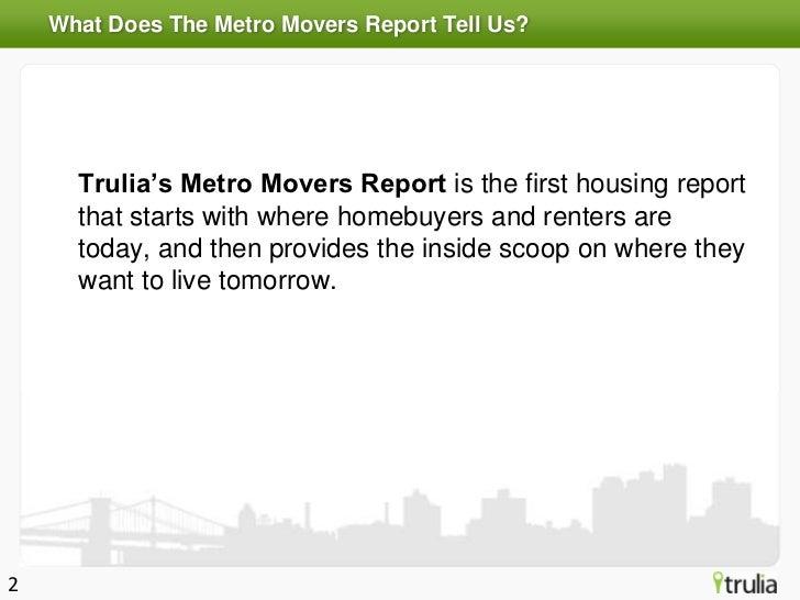 Trulia Metro Movers Report - Winter 2012 Slide 2