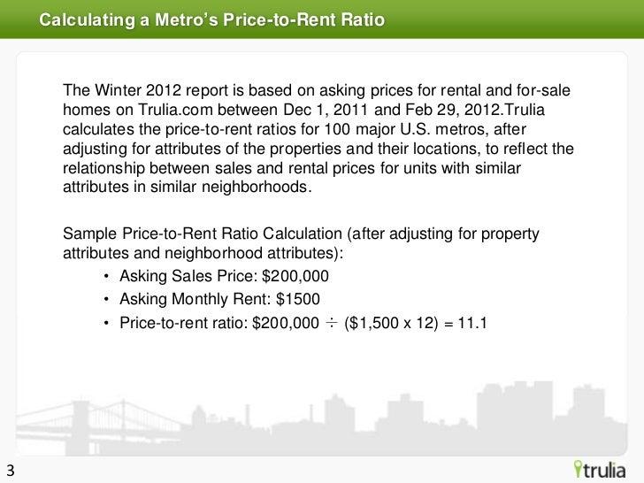 Trulia Spring 2012 Rent vs. Buy Index Slide 3