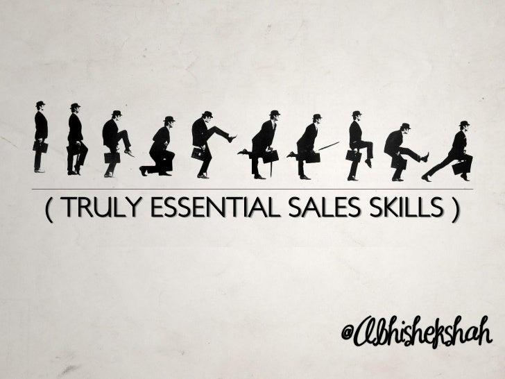 Truly Essential Sales Skills