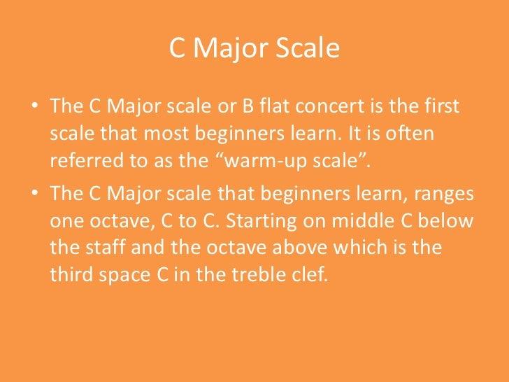 C Flat Major Scale Treble Clef Trumpet - Major Scale