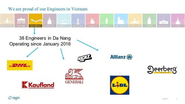 16.04.17 5 We are proud of our Engineers in Vietnam 38 Engineers in Da Nang Operating since January 2016