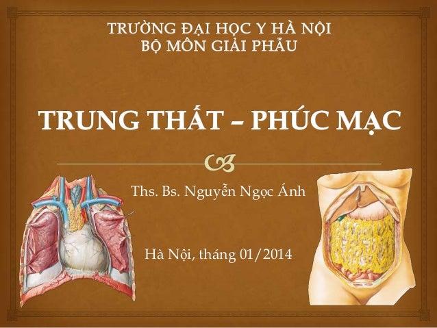 Ths. Bs. Nguyễn Ngọc Ánh  Hà Nội, tháng 01/2014