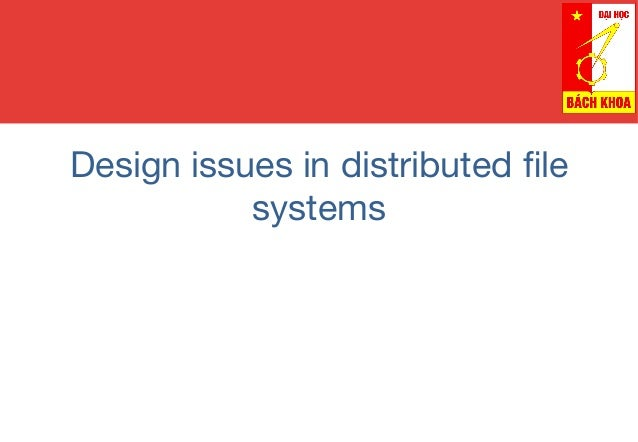 Introduction To Distributed File Systems