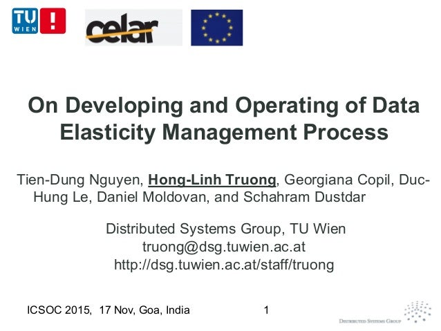 On Developing and Operating of Data Elasticity Management Process Tien-Dung Nguyen, Hong-Linh Truong, Georgiana Copil, Duc...