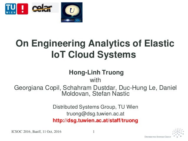 On Engineering Analytics of Elastic IoT Cloud Systems Hong-Linh Truong with Georgiana Copil, Schahram Dustdar, Duc-Hung Le...