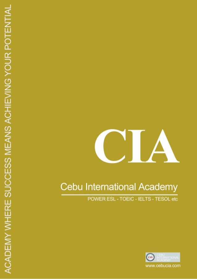 OVE RVI EW  Cebu International Academy (CIA) is a private institution located in Cebu City in the Philippines: The school ...