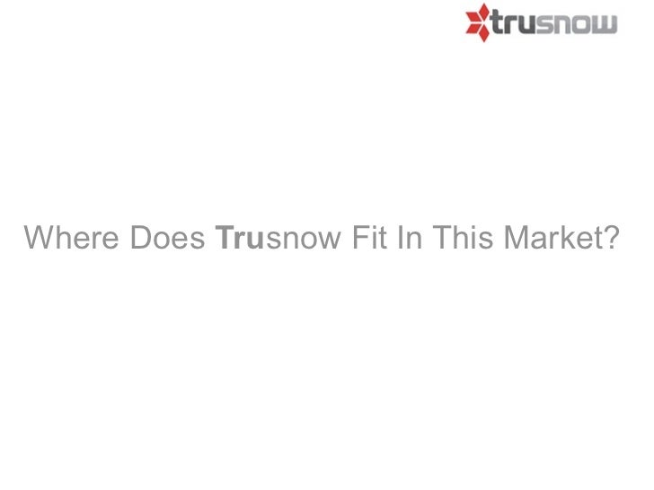 Where Does Trusnow Fit In This Market?