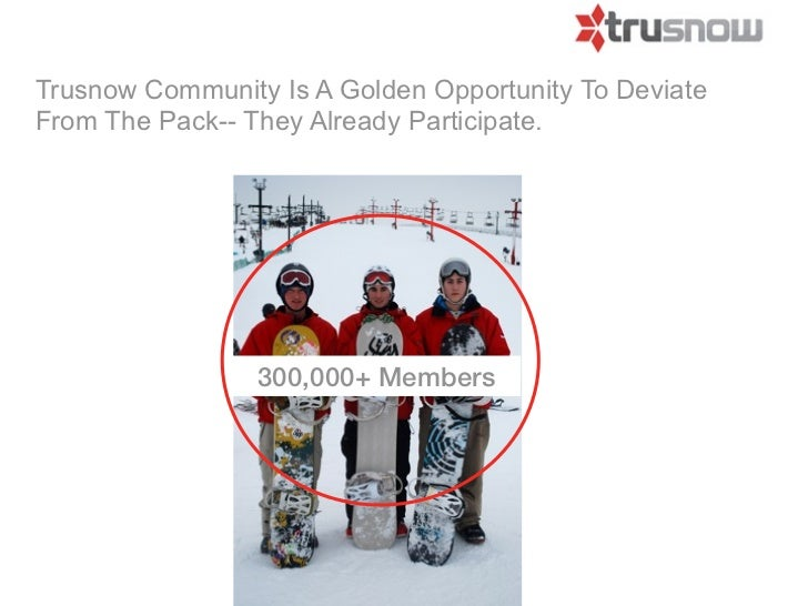Trusnow Community Is A Golden Opportunity To DeviateFrom The Pack-- They Already Participate.                 300,000+ Mem...