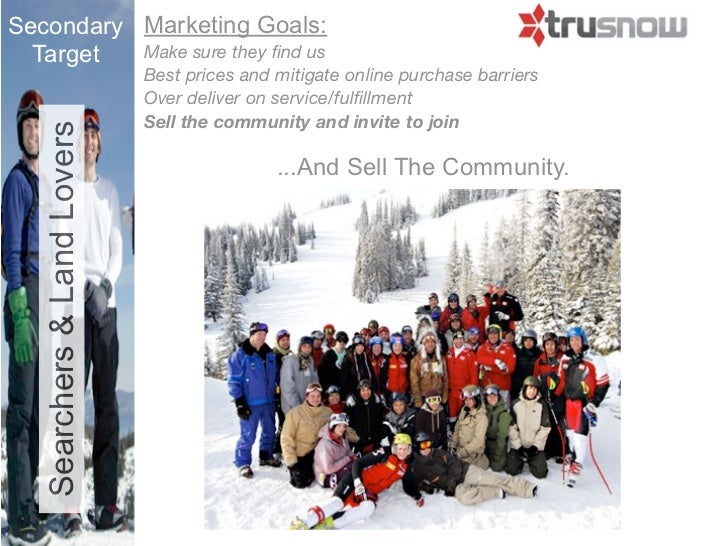 Secondary Marketing Goals:  Target  Make sure they find us                             Best prices and mitigate online purc...