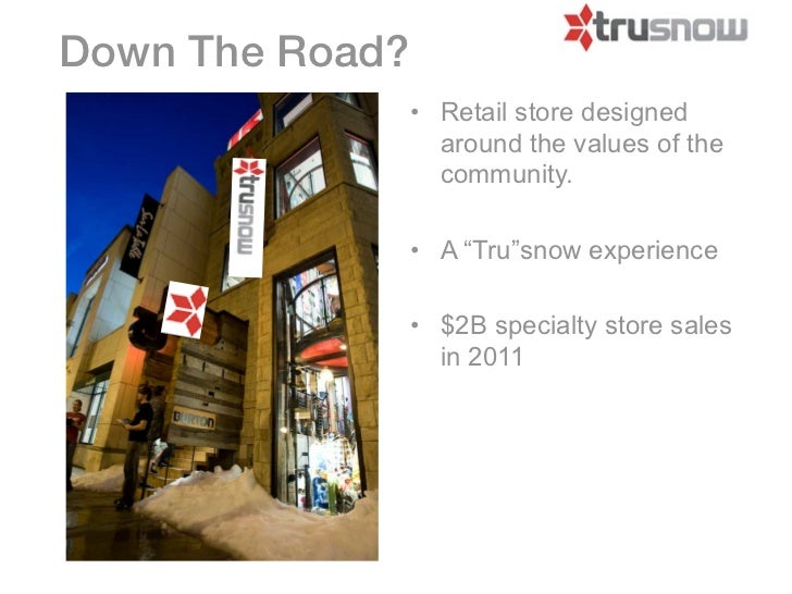 Down The Road?                 • Retail store designed                   around the values of the                   commun...