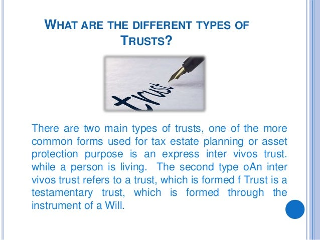 different types of trusts pdf
