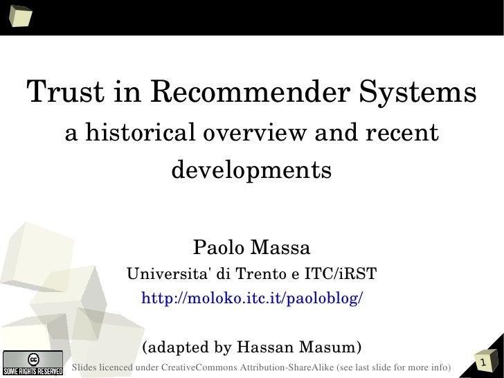 TrustinRecommenderSystems   ahistoricaloverviewandrecent             developments                                 ...