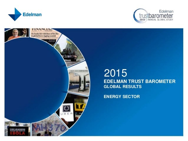 2015 EDELMAN TRUST BAROMETER GLOBAL RESULTS ENERGY SECTOR