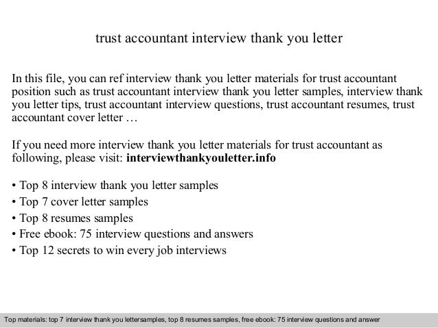 Interview questions and answers – free download/ pdf and ppt file trust accountant interview thank you letter In this file...