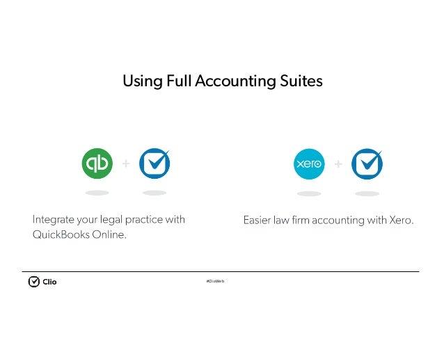 #ClioWeb Using Full Accounting Suites
