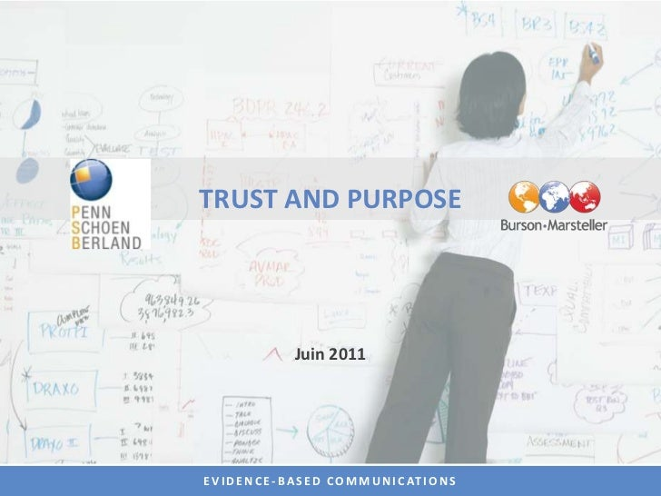 TRUST AND PURPOSE<br />Juin 2011<br />