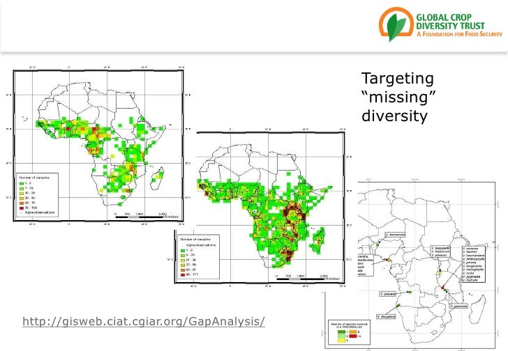 "Targeting ""missing"" diversity<br />http://gisweb.ciat.cgiar.org/GapAnalysis/<br />"