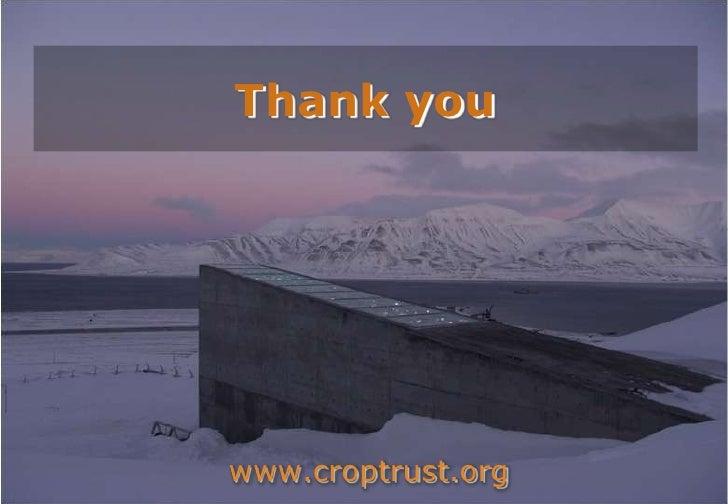Thank you<br />www.croptrust.org<br />