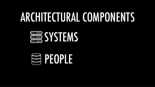 ARCHITECTURAL COMPONENTS SYSTEMS PEOPLE