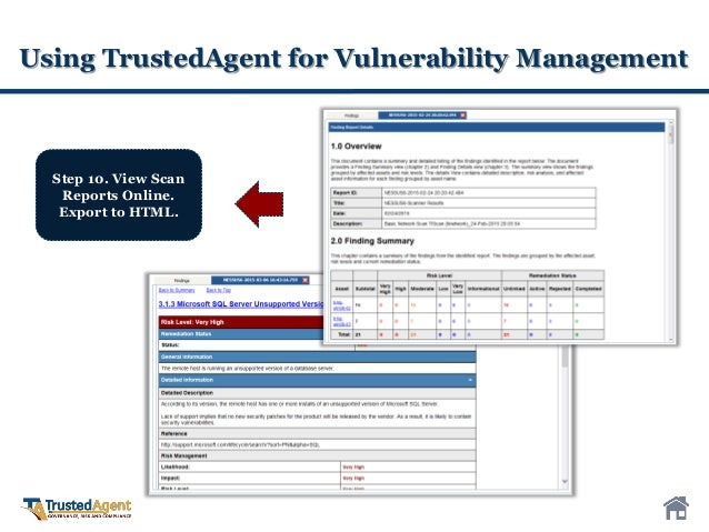 TrustedAgent GRC for Vulnerability Management and Continuous