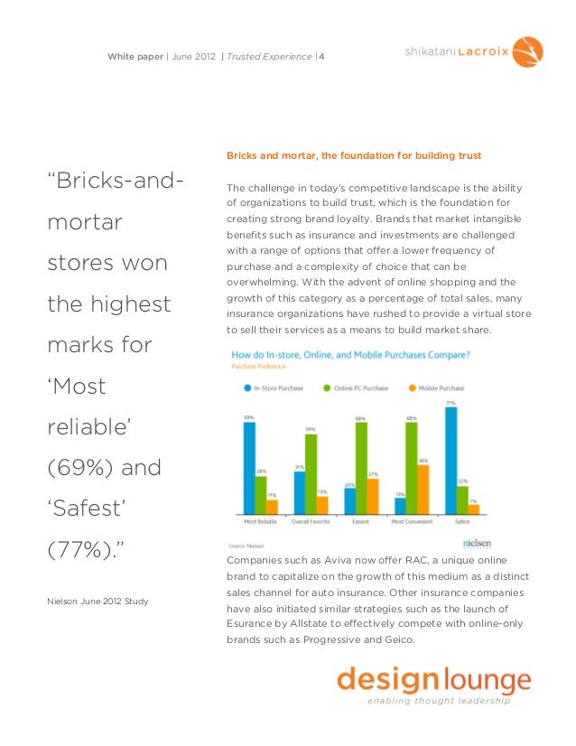 Bricks and mortar, the foundation for building trustThe challenge in today's competitive landscape is the abilityof organi...