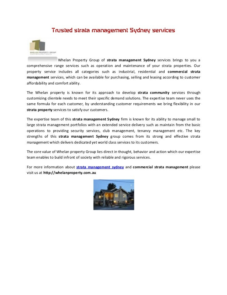 Trusted strata management Sydney services                   Whelan Property Group of strata management Sydney services bri...