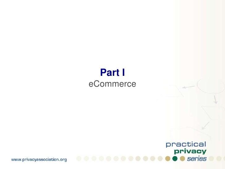 Part I<br />eCommerce<br />