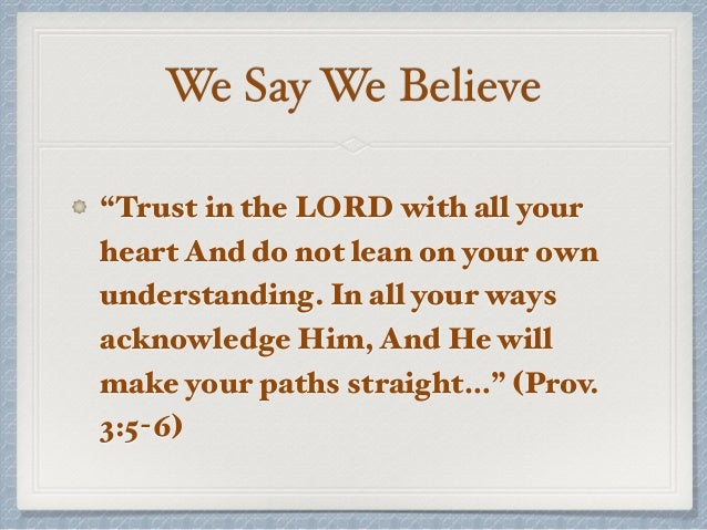 trusting in the lord during difficult times