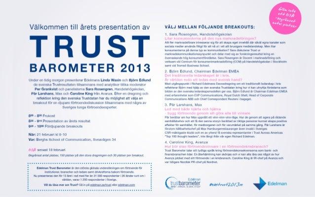 Edelman Stockholm Trust 2013, utan diagram. Slide 2