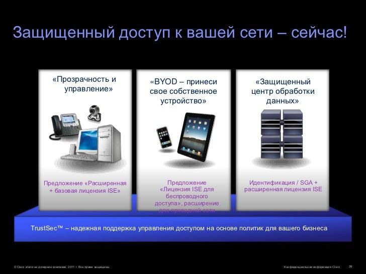 Защищенный доступ к вашей сети – сейчас!                        «Прозрачность и                           «BYOD – принеси ...