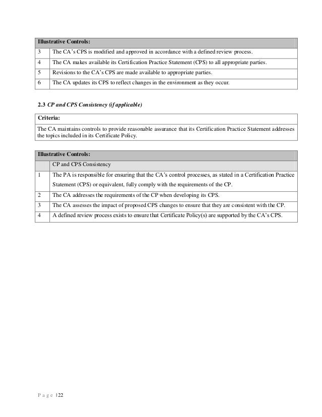 Trust Service Principles And Criteria For Certification Authorities