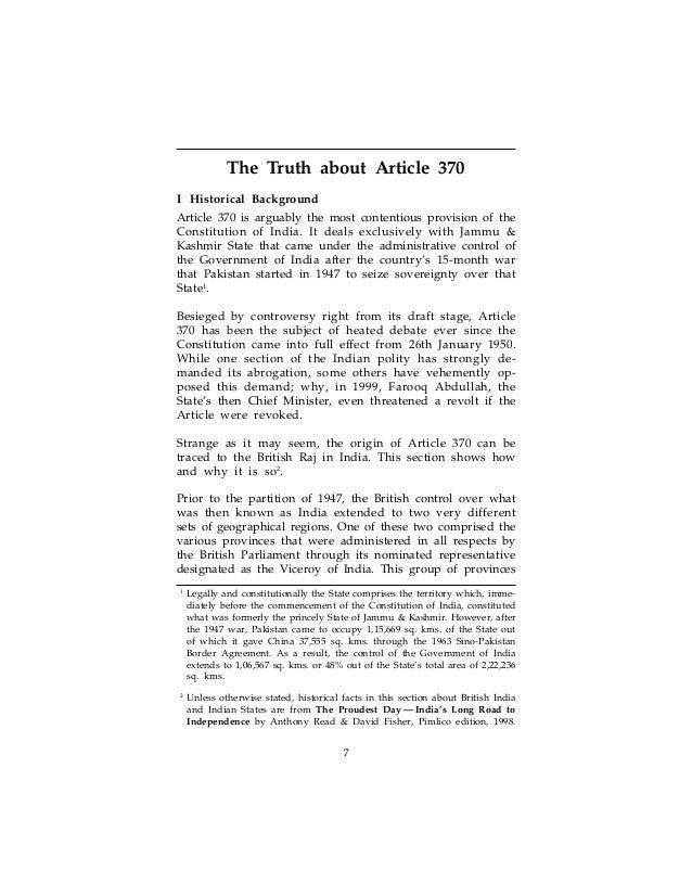 debate with write-up 370 on hindi