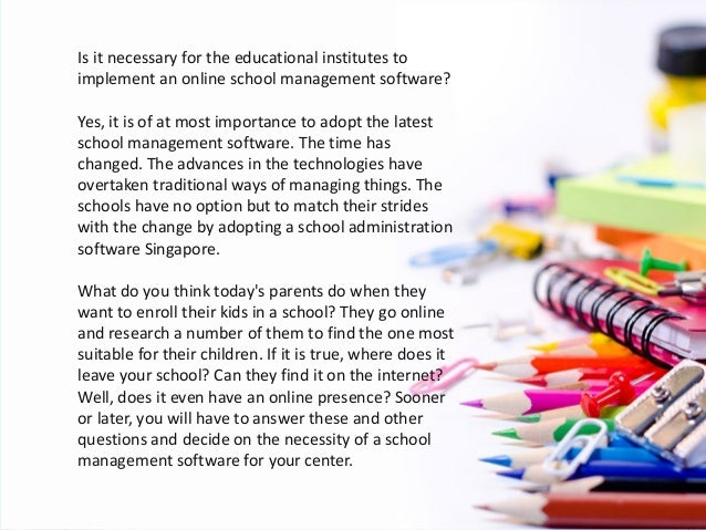 Technology Management Image: Truth Behind The Implementation Of School Management Software