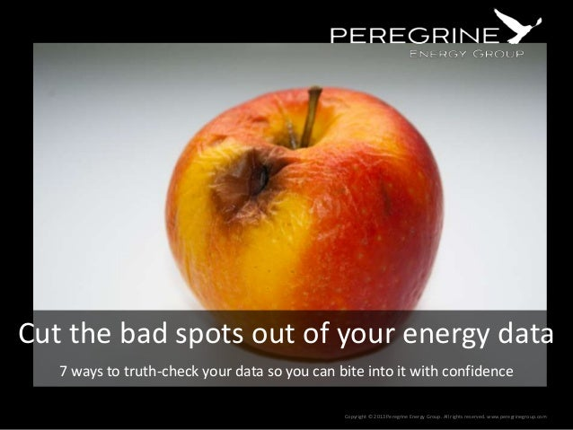 Cut the bad spots out of your energy data 7 ways to truth-check your data so you can bite into it with confidence Copyrigh...