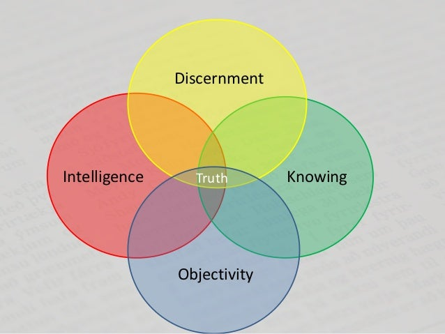 DiscernmentIntelligence     Truth       Knowing               Objectivity